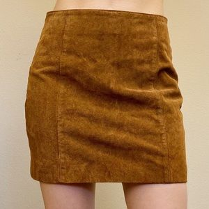 Size 4 | OLD NAVY Brown Suede Mini Skirt